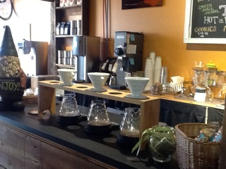 The coffee bar at RIDEhome