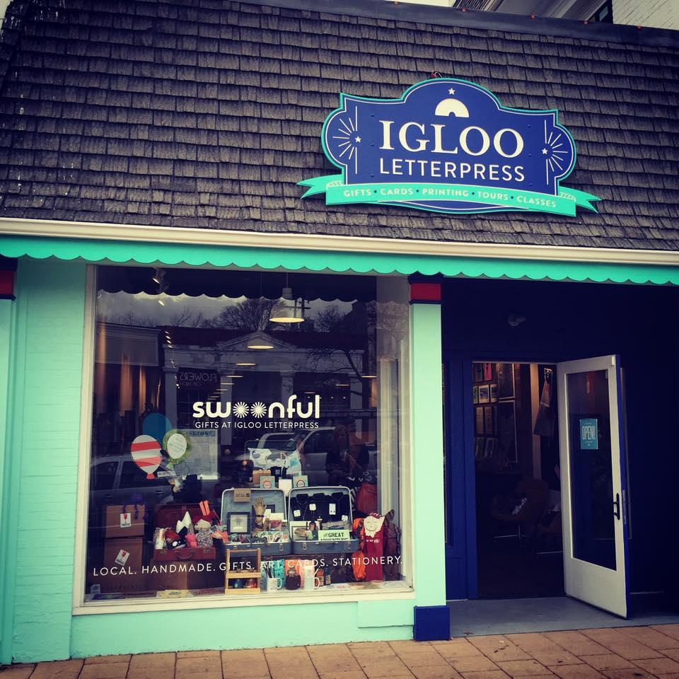 Igloo Letterpress storefront