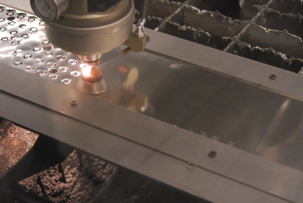 Nickel Shim is laser cut at Diamond Metal Products.