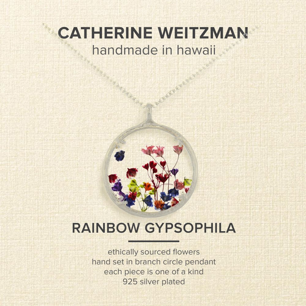 Catherine Weitzman Large Rainbow Gypsophila Round Pendant Necklace SilverMulti Product code 42210109 WWMMVDN.jpg
