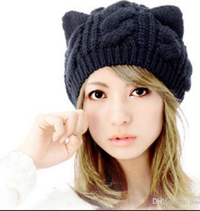 Knit Cat Ear Hat — EGC c3009c42ad7f