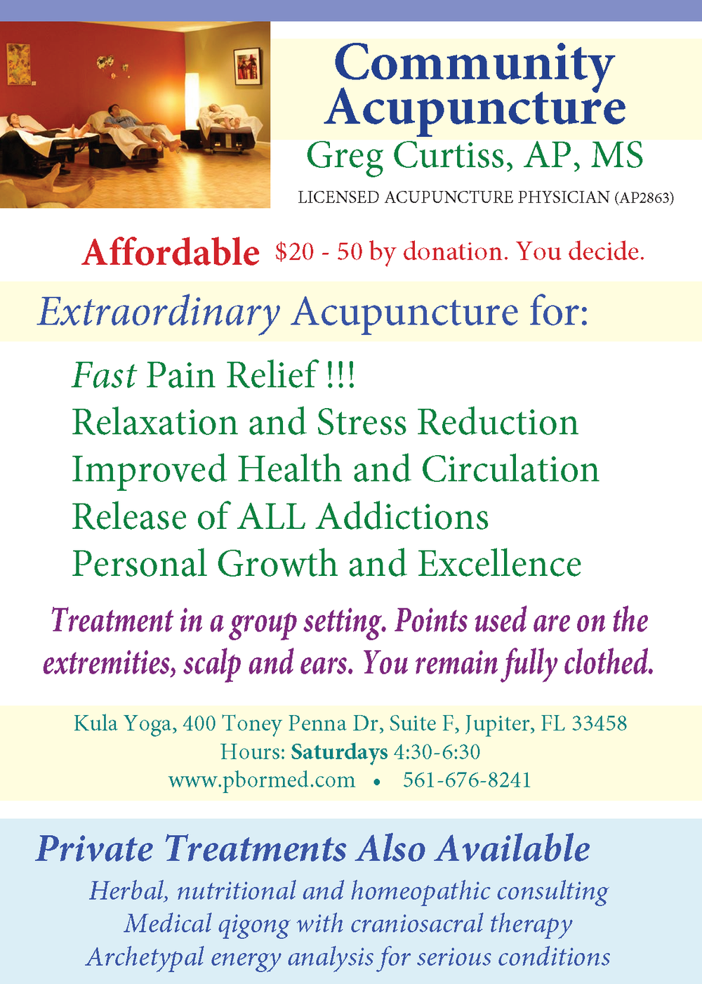 Flyer for Community Acupuncture - Kula HAC - Jul 28 2016.png