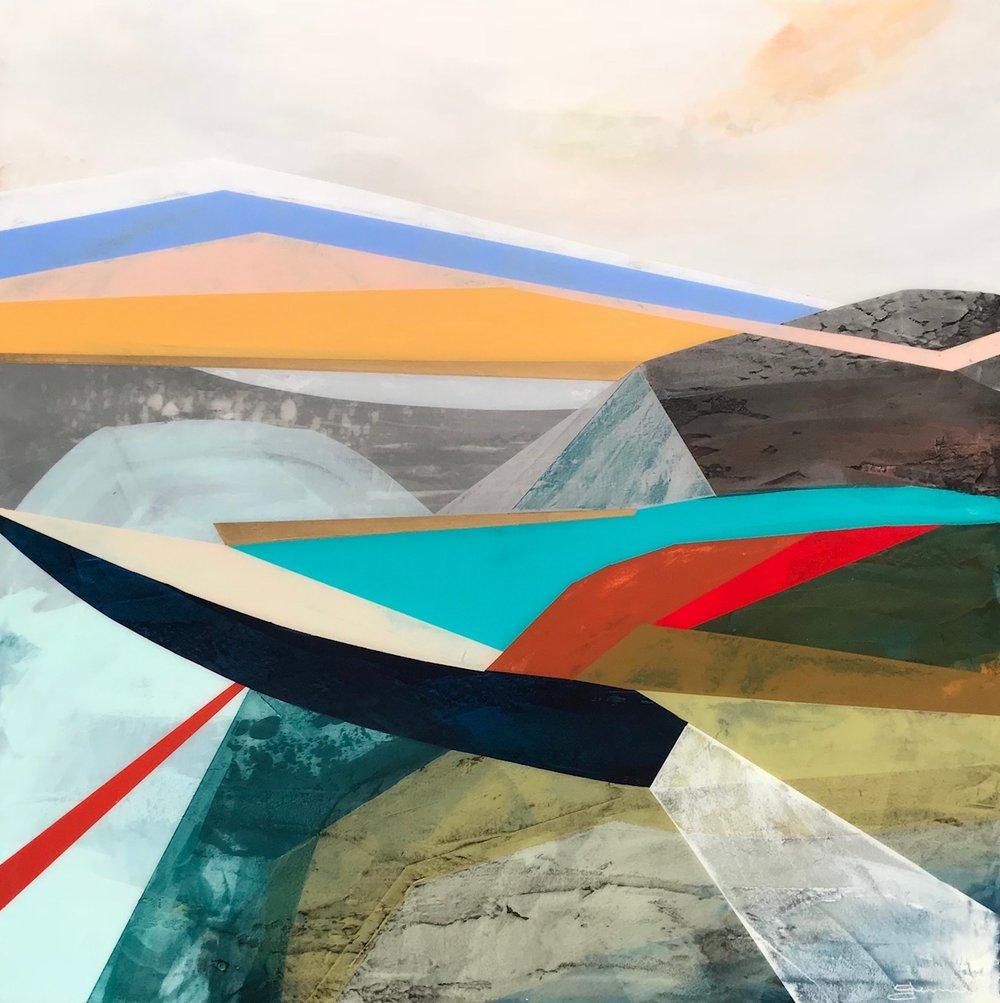 "Sugar Mountain • Mixed Media on Canvas • 36"" x 36"""""