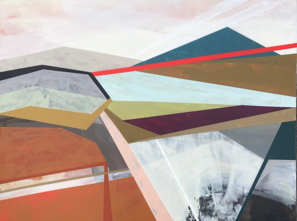 "Cinnamon Hill • Mixed Media on Canvas • 40"" x 30"""