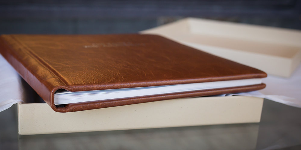 Beautiful Lay-Flat Leather Bound Photo Album - Starting at $850