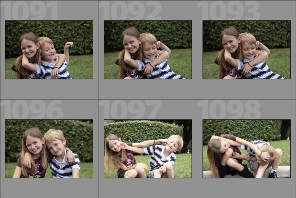 My first photography session, practicing with my (at the time) step-children