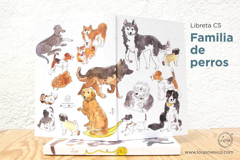 libreta C5 familia perros abierta.jpg