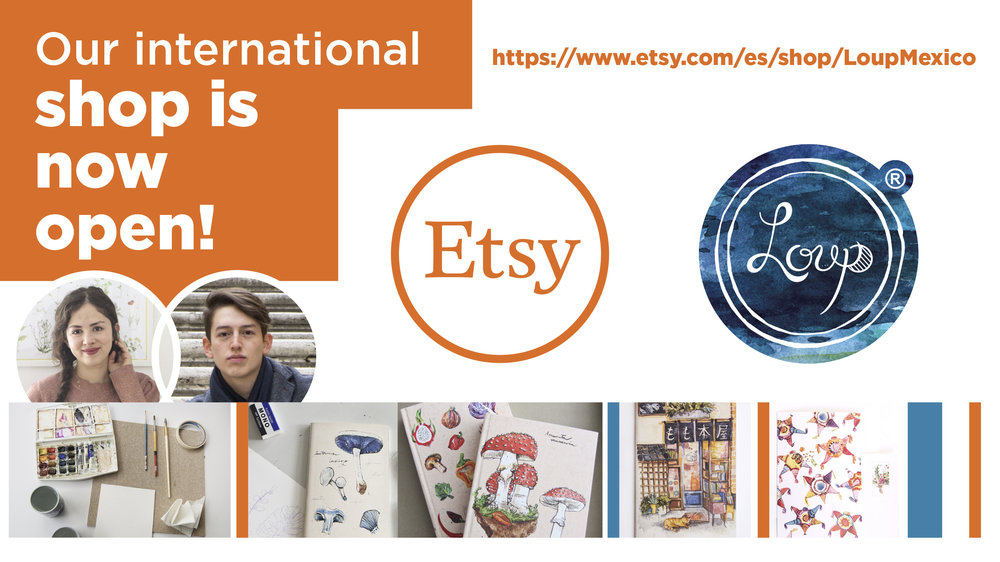 Friends from all over the world, now you can have Loup products easily at   Etsy  !