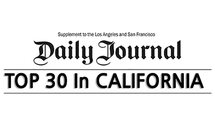 Top 30 Lawyers in California as recognized by the Daily Journal