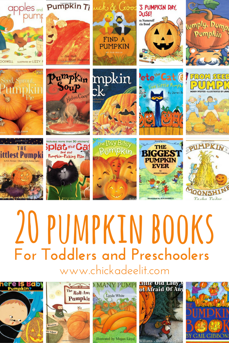Pin this image to save the big list of pumpkin books.
