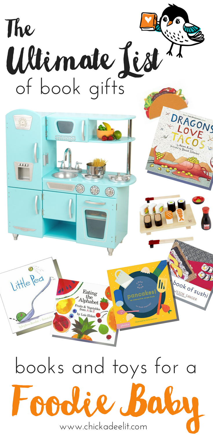Click Through to My List of Book and TOy Gifts For Little Foodies