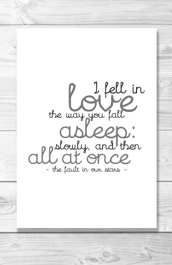 The Fault in Our Stars  quote—John Green—Shaileyann Designs on Etsy