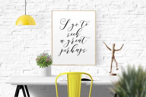 Looking for Alaska  quote—John Green, Francois Rabelais—Typo World on Etsy
