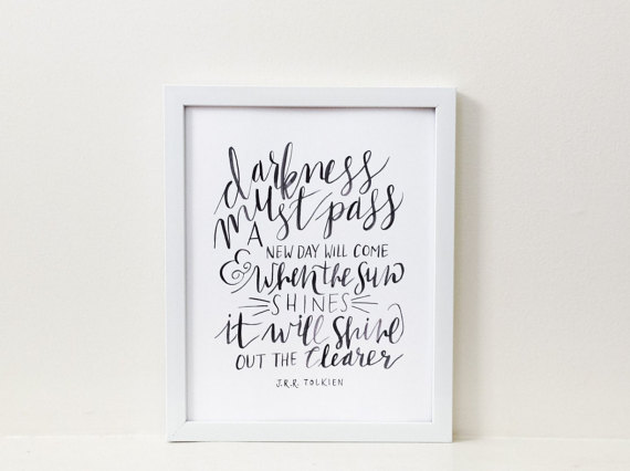 Lord of the Rings  quote—J.R.R. Tolkien—Fox + Wild Paper Co. on Etsy