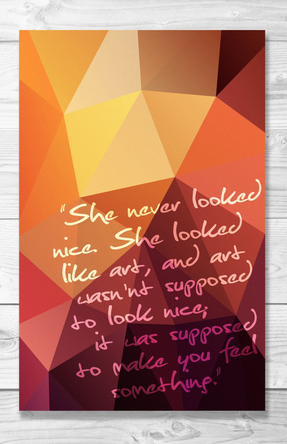 Eleanor & Park  quote—Rainbow Rowell—Shaileyann Designs on Etsy