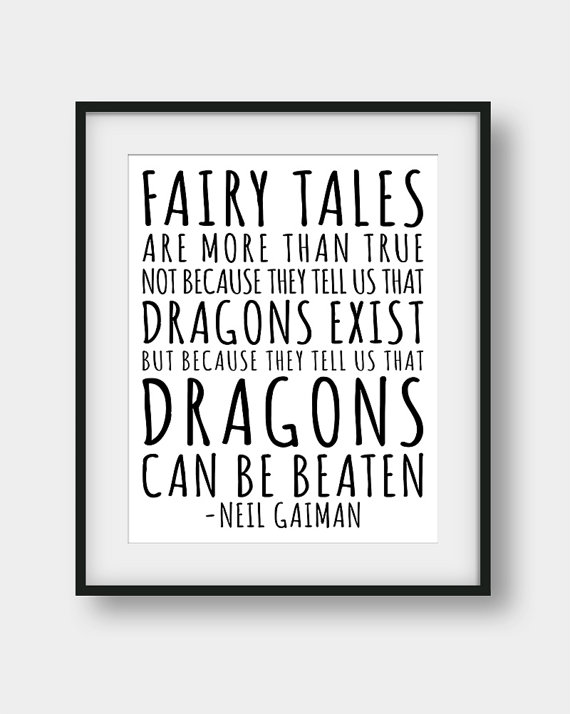 Coraline  quote—Neil Gaiman—Aenaon Design on Etsy