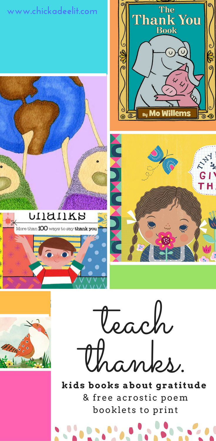 Colorful books to teach gratitude to kids all year long.