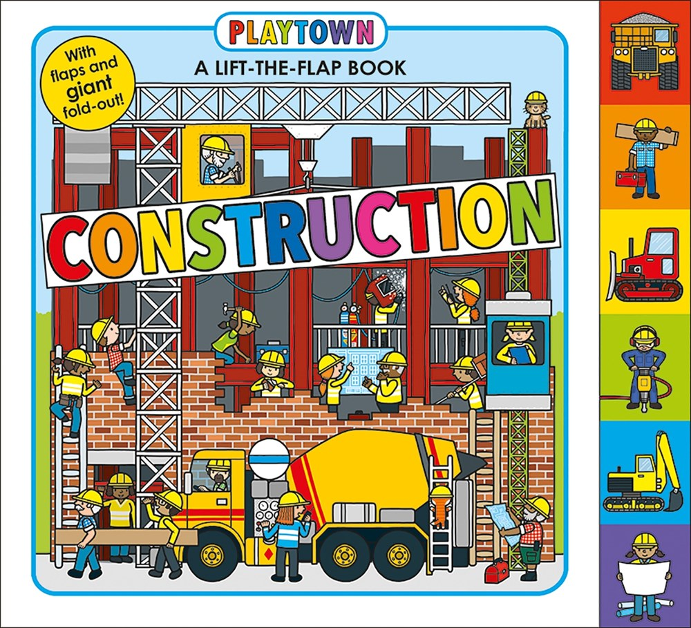 playtown construction lift the flap kids books