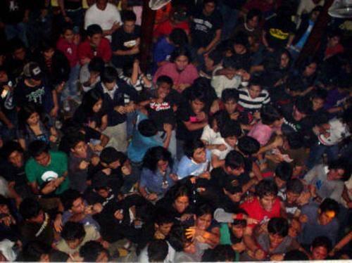 A packed concert in Peru.