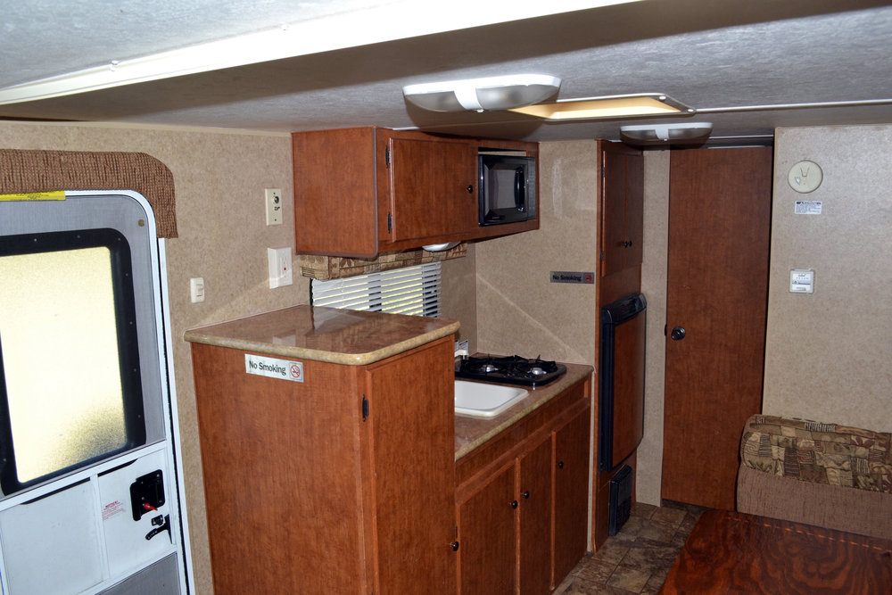 Camper rental Aljo interior