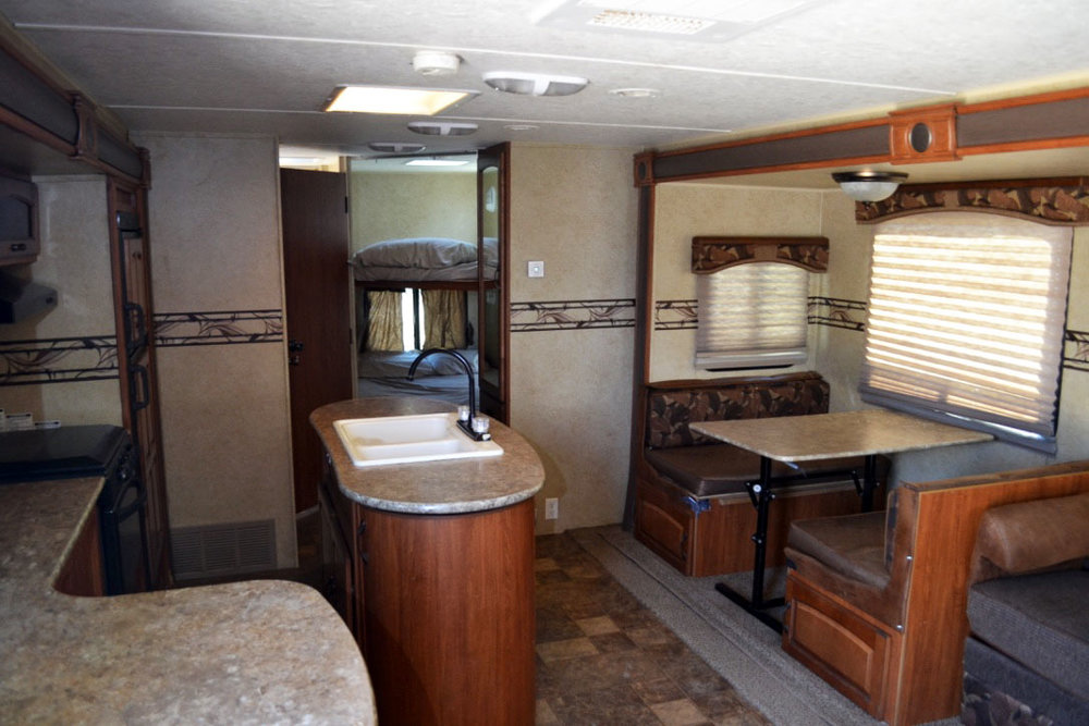 Surveyor Interior Camper Rental Fort Worth