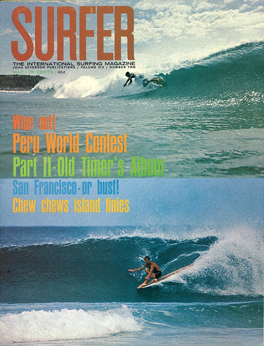 SURFER MAG 1965 MAY COVER - RICH CHEW