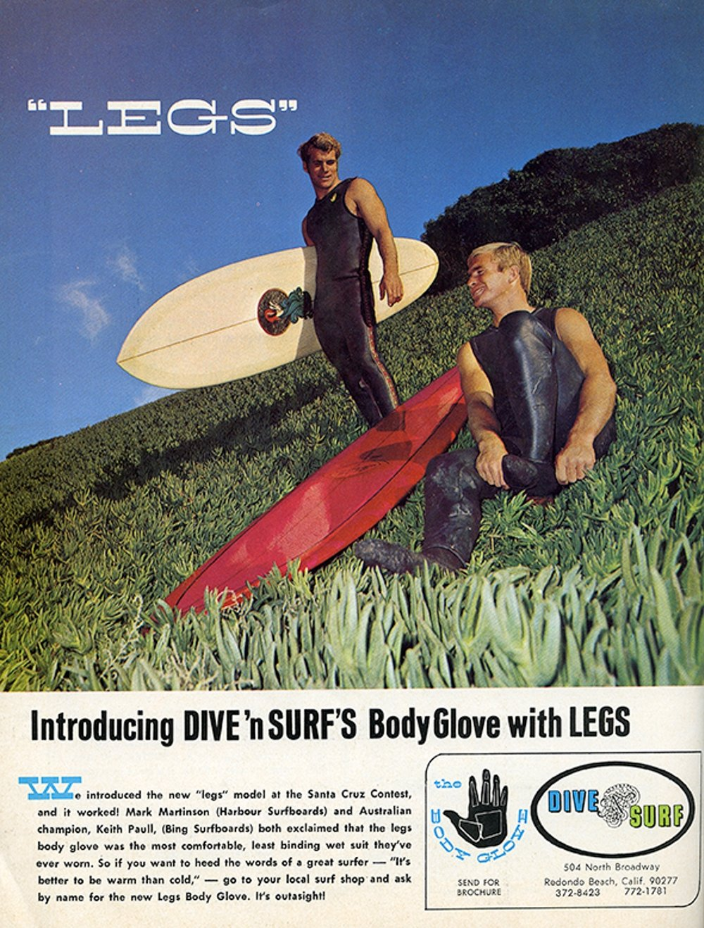 SURFER MAG 1970 VOL10 BODY GLOVE AD