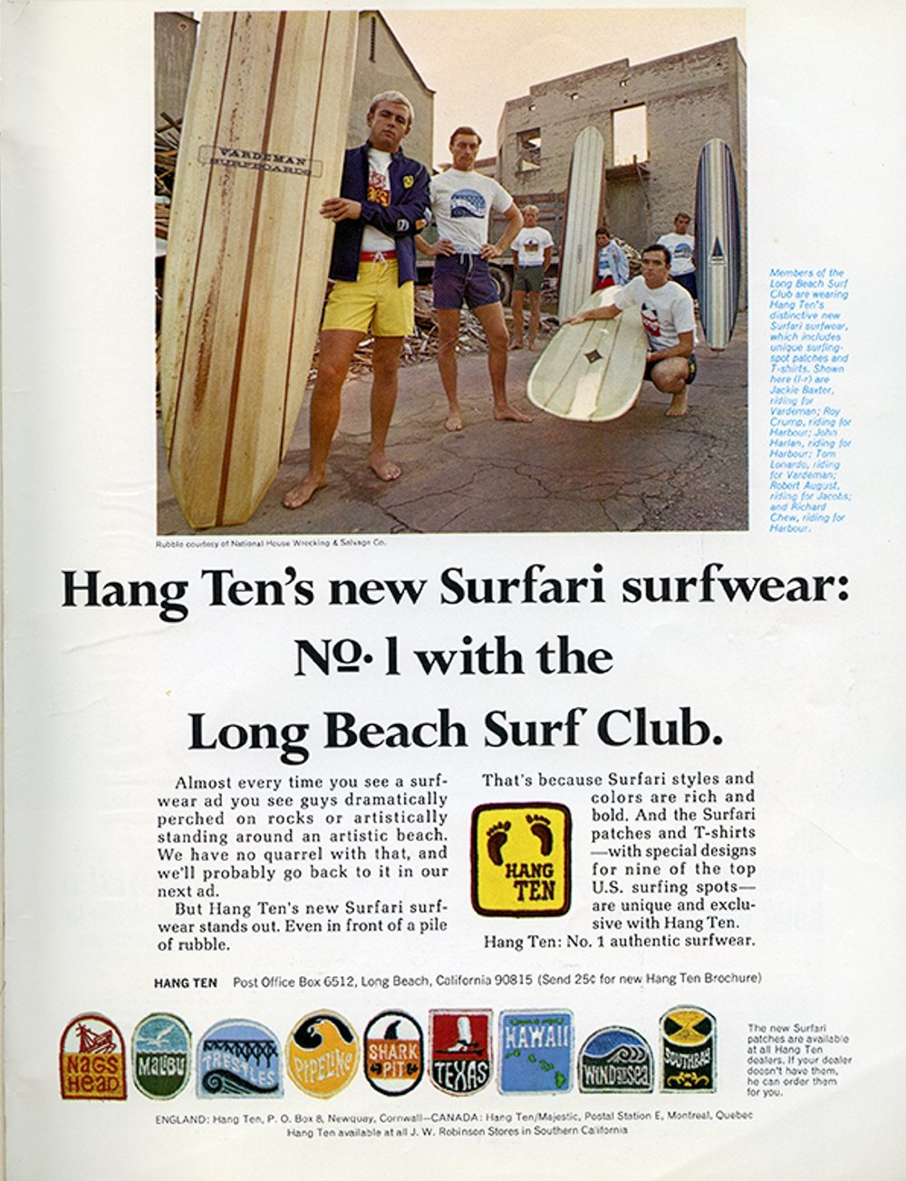 SURFER MAG HANG TEN AD