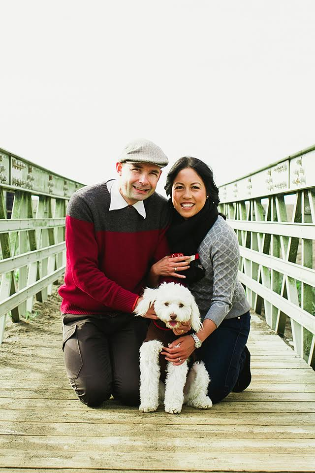 Matthieu with his wife Regina and pup Fredo.
