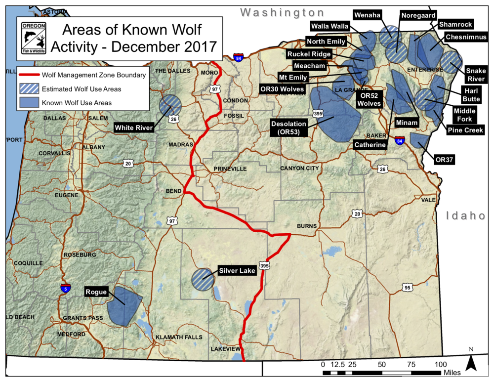 Map 1.  A good start.  Source:  Oregon Department of Fish and Wildlife