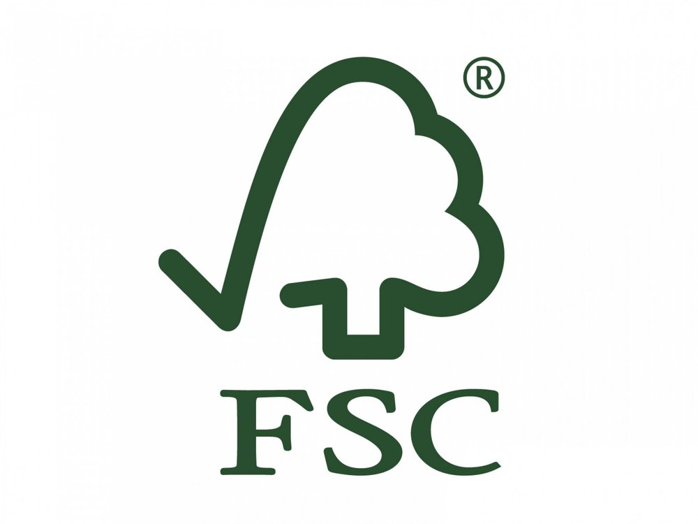 - Figure 3. Look for the Forest Stewardship Council logo when buying wood or paper products.
