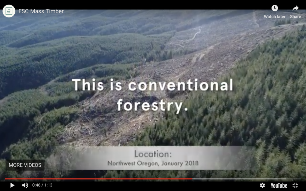 Figure 1.  There is a difference between conventional (business as usual) forestry and that kind of forestry practiced on a Forest Stewardship Council-certified forestland (see below).  Source:  Forest Stewardship Council .