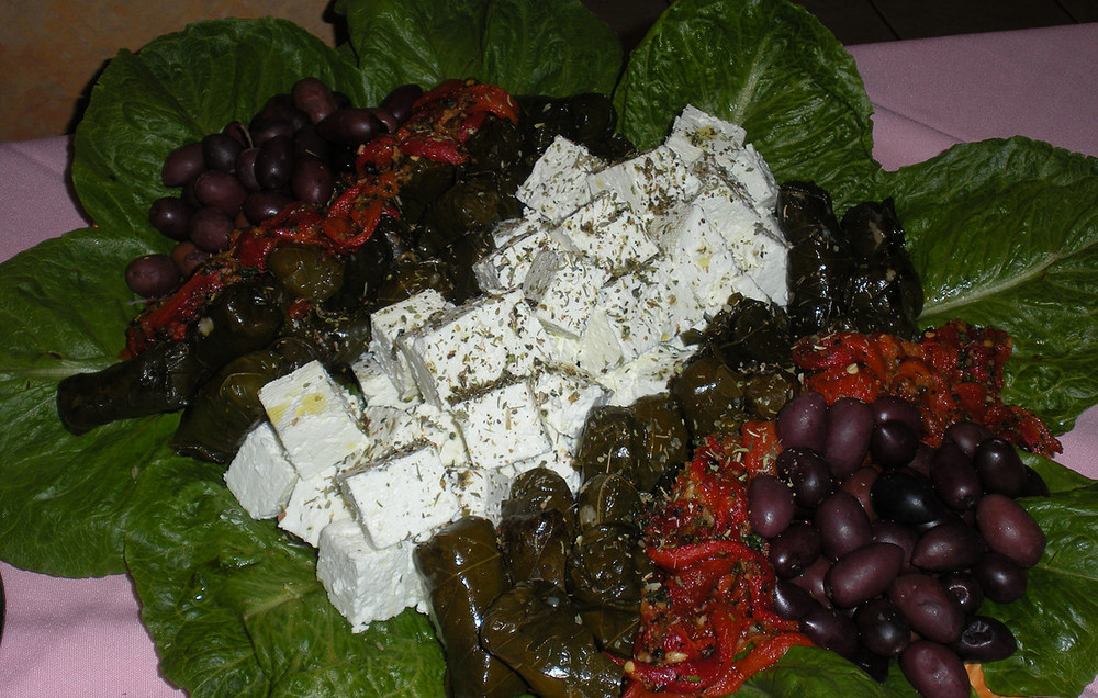 Feta Peppers and Olives