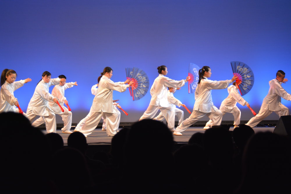 Tai Chi Kung Fu Fan group performance