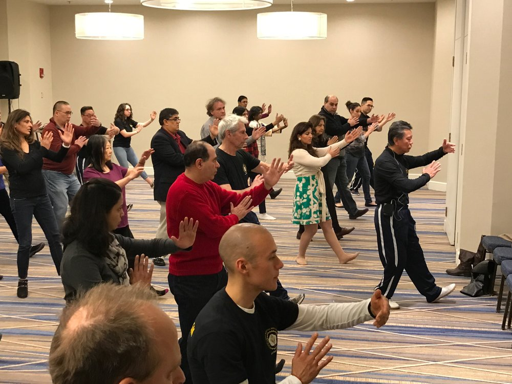 Sifu Chin leads seminar attendees in the Tai Chi Paradigm short form, Beginning style