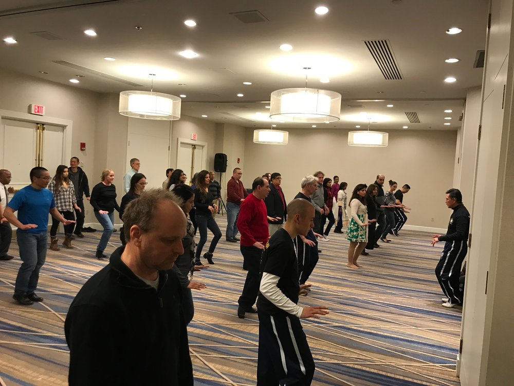 Sifu Chin leads seminar attendees in TCP preperation