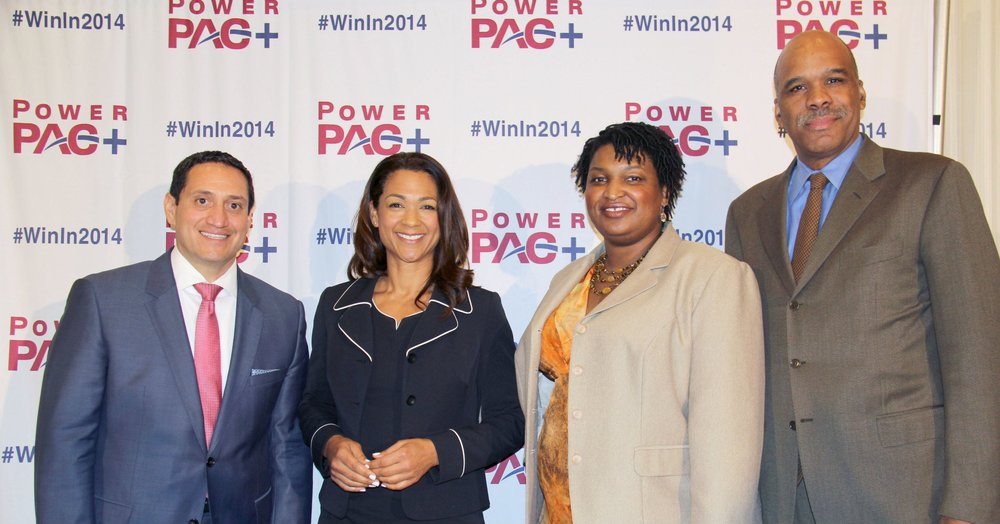 Trey Martinez Fischer, Aimee Allison, Stacey Abrams and Steve Phillips at PowerPAC+'s Race Will Win the Race National Conference, June 2014