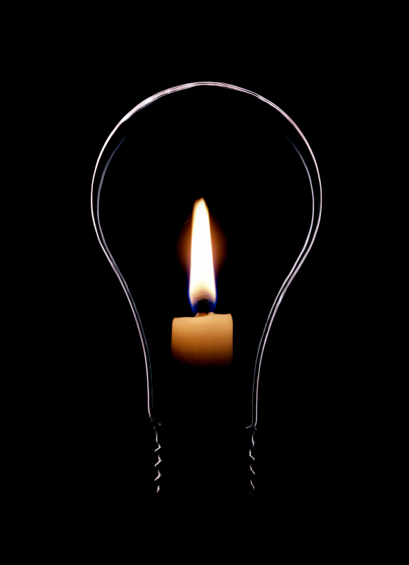 Light bulb flame