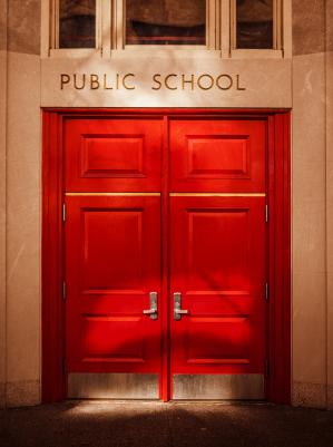 Public school door