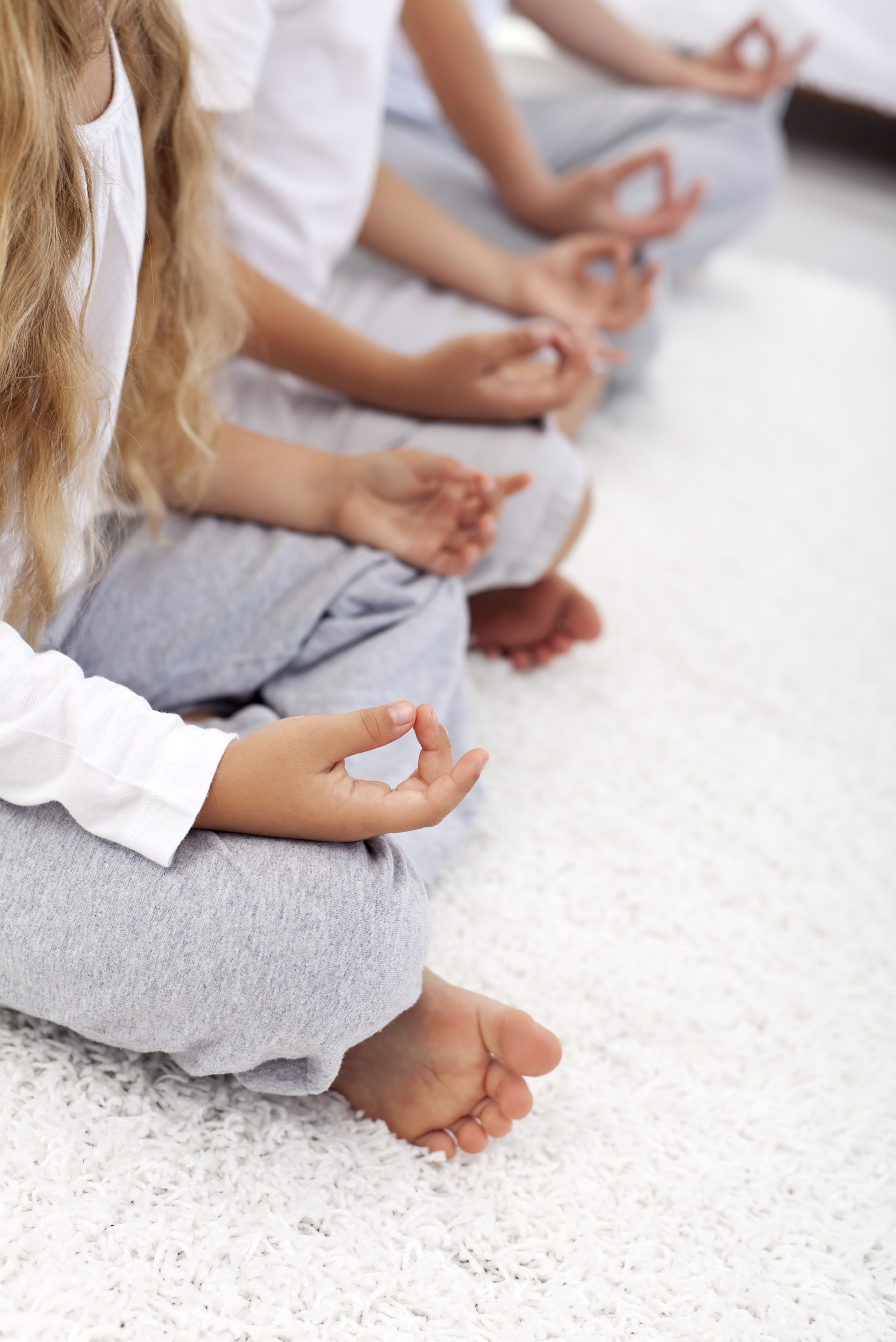 Lotus position yoga relaxation detail