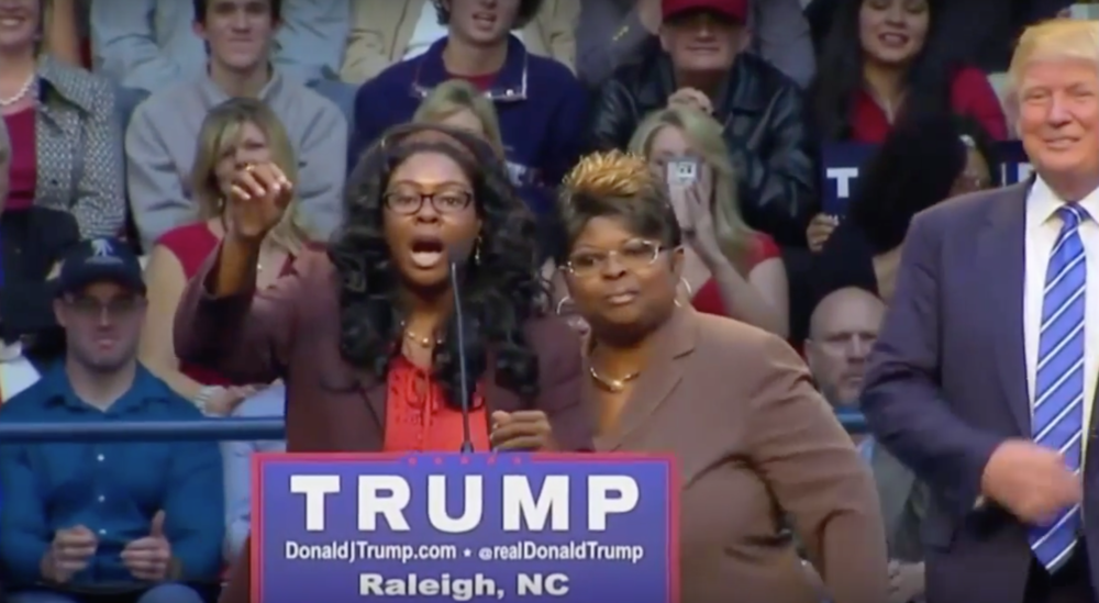 "Known as the ""Stump for Trump Girls,"" Lynette Hardaway and Rochelle Richardson made waves when they endorsed Trump for president on CNN back in August. (Photo:CNN)"