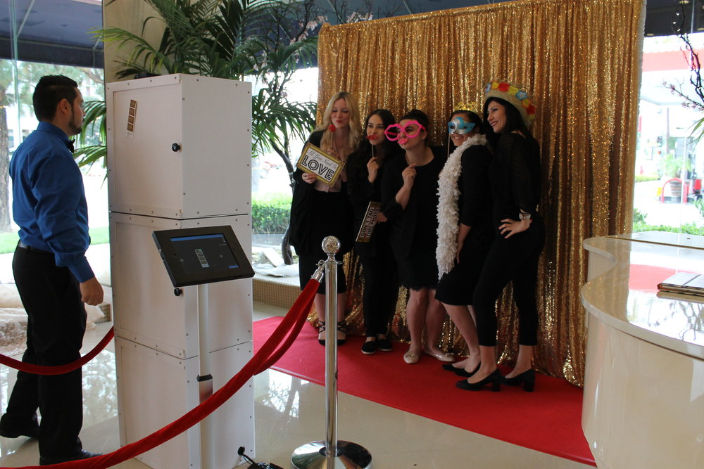 The Panache girls having fun with OC Event Photo Booths