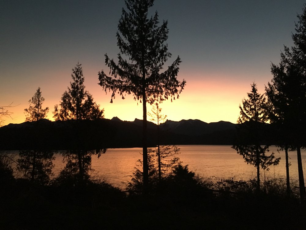 Sunrise from the Gambier Retreat House deck