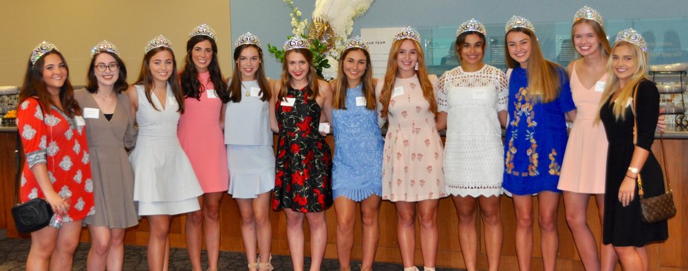 Several of our debutantes heading into the tour of Mary Bird Perkins-Our Lady of the Lake Cancer Center