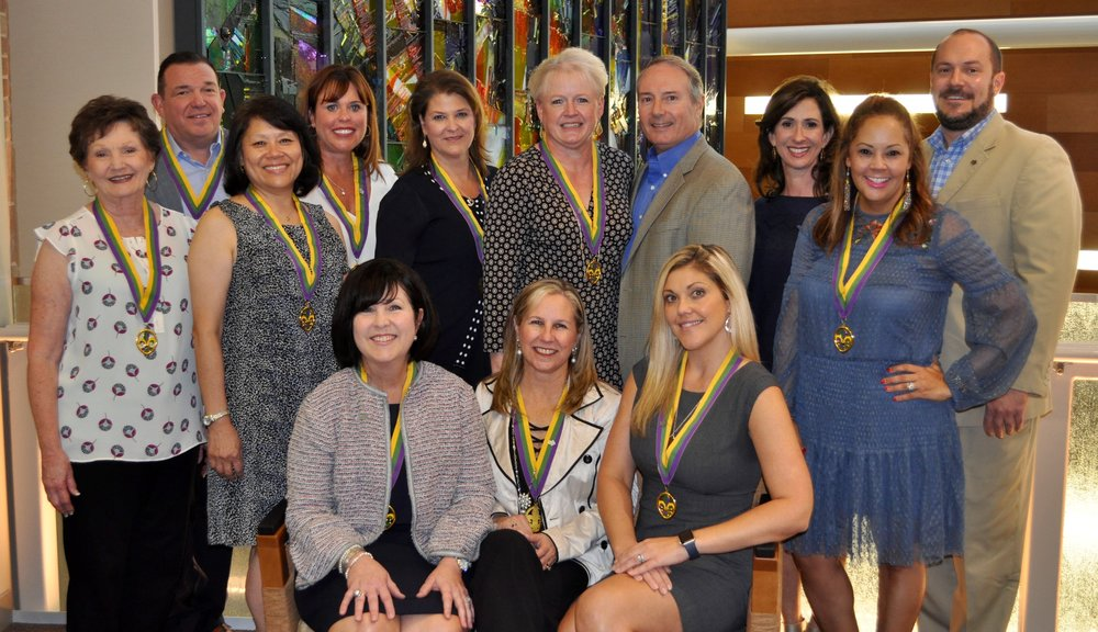 Board members shown from left to right:    Back Row: Terry Bellon, Ashley Munn, Linda Crochet, Julie Breaux, Lance Lemoine, Renee Brian and Ethan Bush  Middle Row: Jill Vanlangendonck, Kim Kwan, and Shannon Gregoire  Front Row: Marilyn Starks, Aimee Walker and Katie Graves
