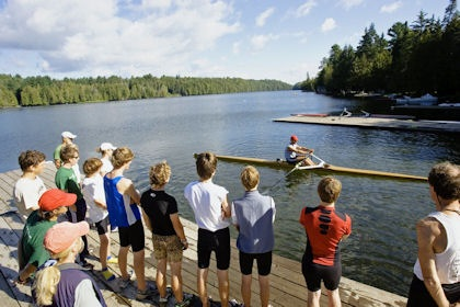 Rowing class at Craftsbury Outdoor Center