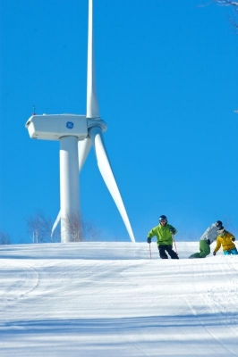 Zephyr Wind Turbine is a selfie magnet atop Jiminy Peak!