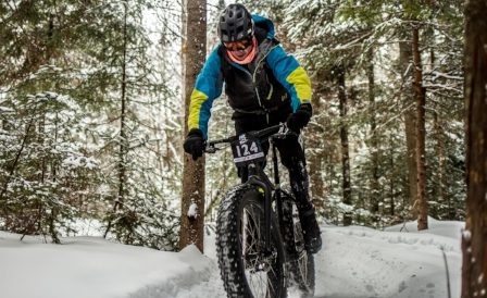 Fat biking at Mont-Sainte-Anne Nordic Centre - Hugo Desgreniers
