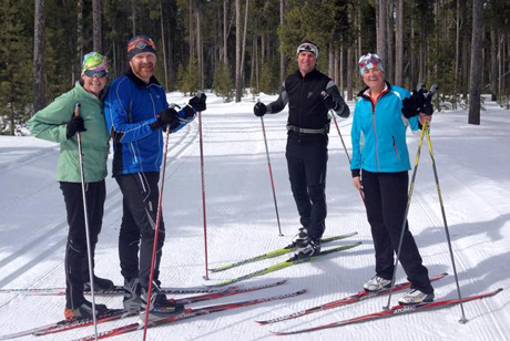 Dressed for cross country skiing on the trails in West Yellowstone