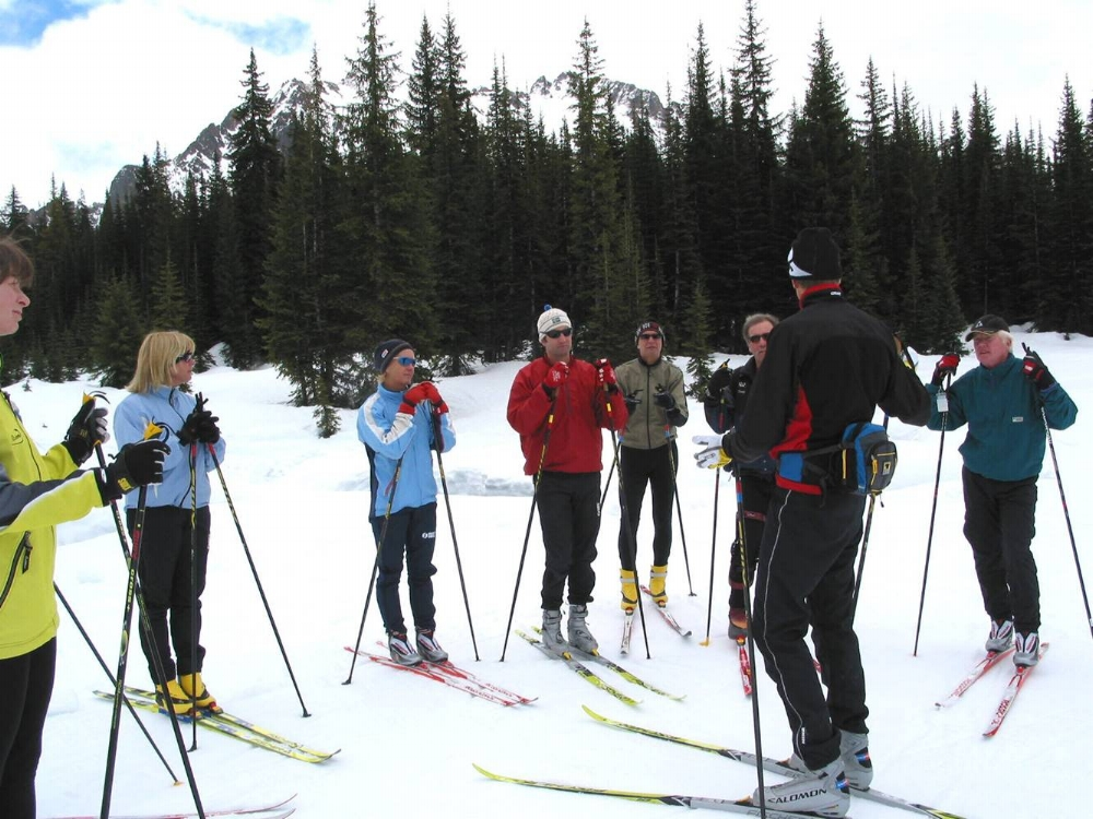 Ski lesson with CANSI certified ski instructor